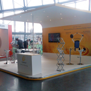 Small custom built exhibition stand at the Sage, Gateshead